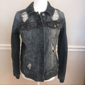 Juicy Couture Distressed Denim Jacket Sz Small